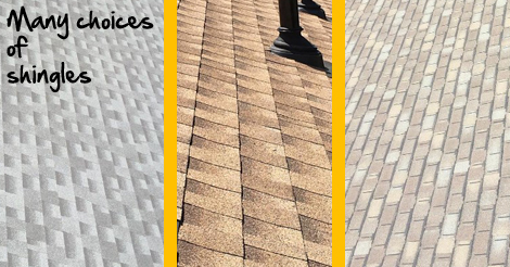 choices of shingles
