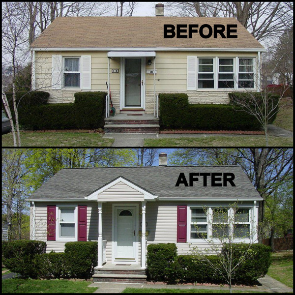 New Jersey Home Painting From J S Painting: Painting Asbestos Siding Before And After