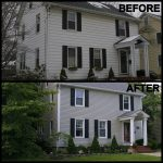 before and after new siding