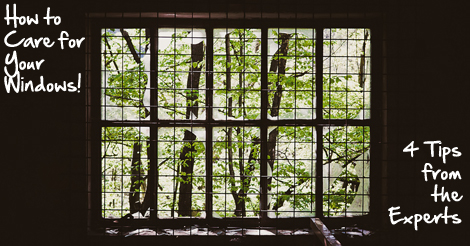 how to care for your windows