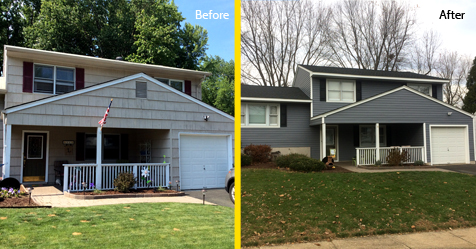 roofing and siding before and after