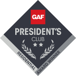 George J Keller & Sons are GAF 2019 President's Club Award Winners!